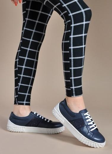 Vizon Ayakkabı Hakiki Deri Ayakkabı Lacivert